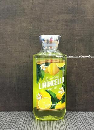 Увлажняющий гель для душа bath and body works - sparkling limoncello
