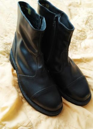 Мужские кожанные зимние ботинки