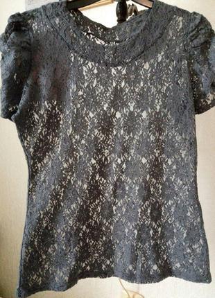 Блуза стрейч-гипюровая