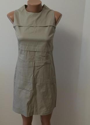 Платье без рукавов, натуральная ткань. made in italy