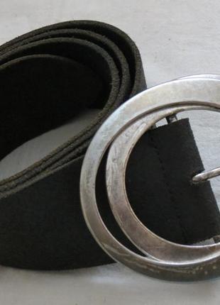 Кожаный ремень promod массивная пряжка металл