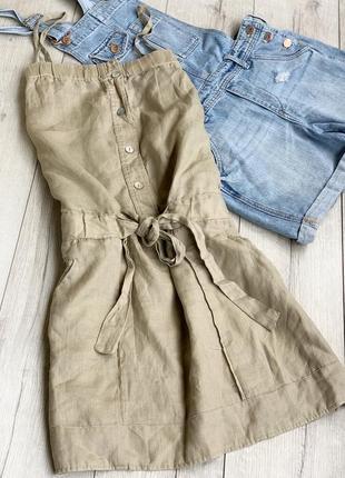 Платье лляне,плаття з льону stile benetton
