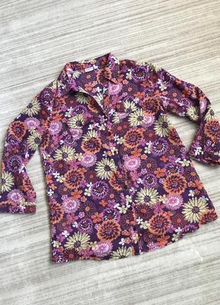 Хлопковая тонкая цветная рубашка