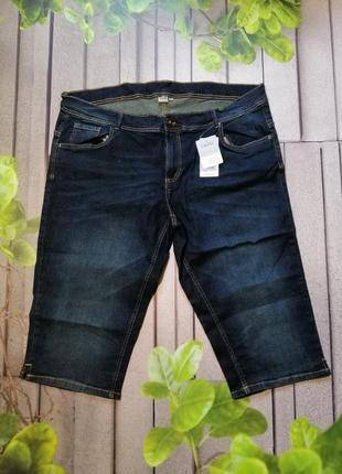 Синие джинсовые капри большой размер