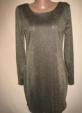 Нарядное платье с люрексом атмосфера р-р16