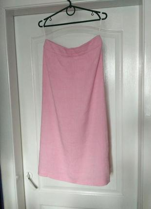 Льняная миди юбка