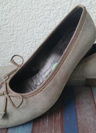 Комфортные туфли из натуральной замши и кожи