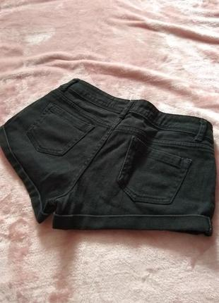 Шорти джинсові чорні