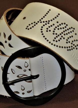 Ремень hilfiger denim кожаный италия размер 80