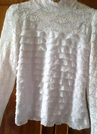 Блуза нарядная для девочки  7-10  лет  размер 5 польша плюс подарок