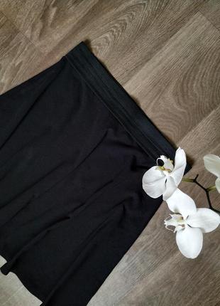 Чёрная юбка-солнце в школу