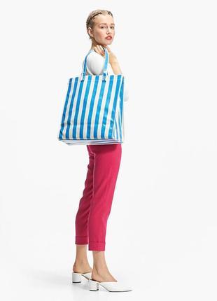 Сумка шопер, пляжная сумка  в полоску от