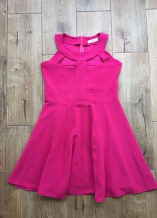 Розовое бандажное платье rise