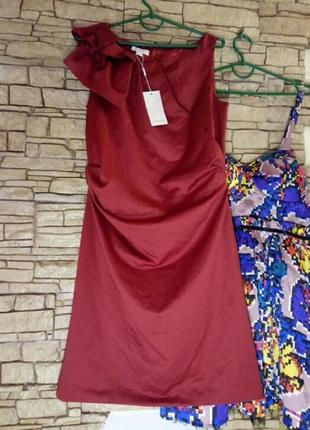 Платье миди,цвет 《красная груша》