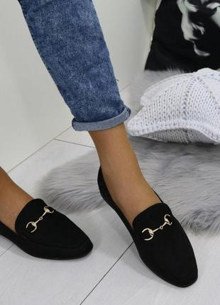 Замшевые туфли лоферы lh premium