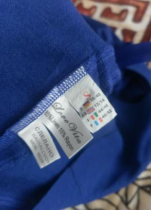 Красивое, синее платье5 фото