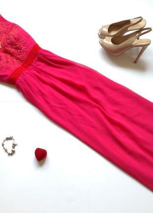 Длинное вечернее розовое платье макси в пол little mistress