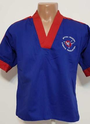 Кимоно синее, karate british для боевых искусств, 150-160, сост отличное!