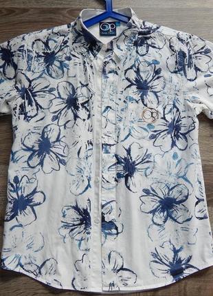 Классная рубашка в цветочный принт