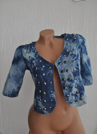 Жакет-накидка из ткани под джинс