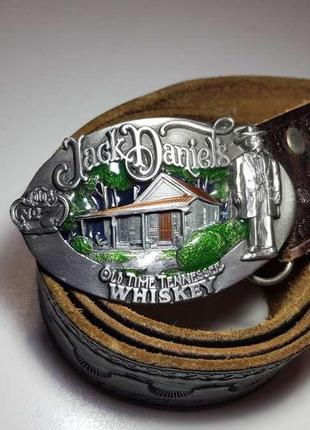 Пряжка jack daniel's whiskey original, + кожаный ремень. как новая!
