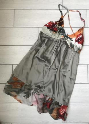 Новое летнее шелковое платье-сарафан guess