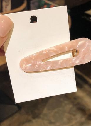 Обнова! заколки заколка роговая большого размера розовый перламутр