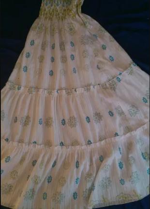 Летнее платье - сарафан белого цвета