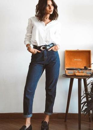 Обнова! джинсы мом mom синие классика высокая талия высокое качество новые