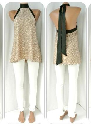 Изящная брендовая гипюровая блузка asos. размер uk12, m.