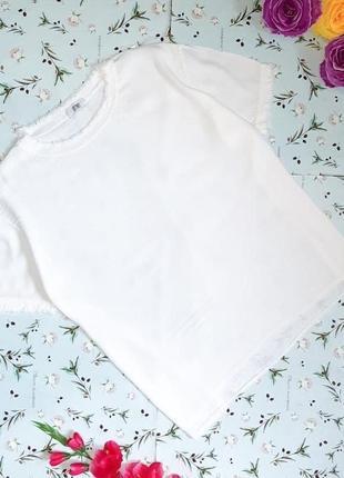 Акция 1+1=3 крутая белая итальянская белая футболка блуза tifany, размер 52 - 54