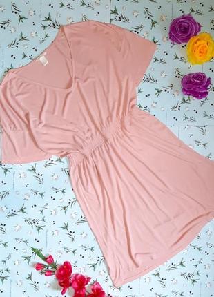 Акция 1+1=3 идеальное летнее платье миди розовое нюд h&m, размер 46 - 48