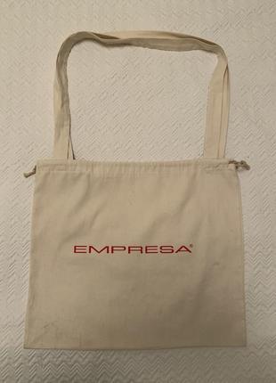 Эко сумка шоппер торба empresa белая на затяжках