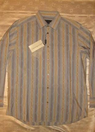 Шелковая рубашка jhane barnes мужская сорочка новая р. l - xl