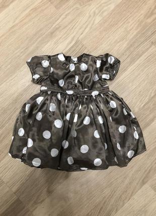 Нарядное фатиновое платье в горох mamas&papas на 0-3 месяца, новое!