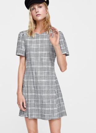 Платье в клетку от zara