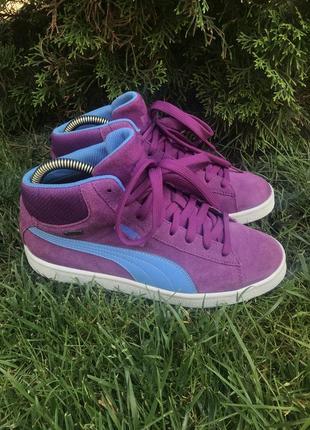 Фирменные кожаные кроссовки, хайтопы puma  gore-tex 38