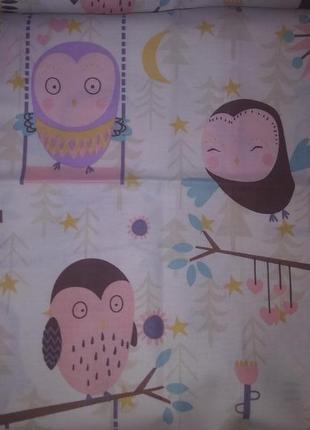 Комплект постельного белья тм ярослав сатин с совами размер детский