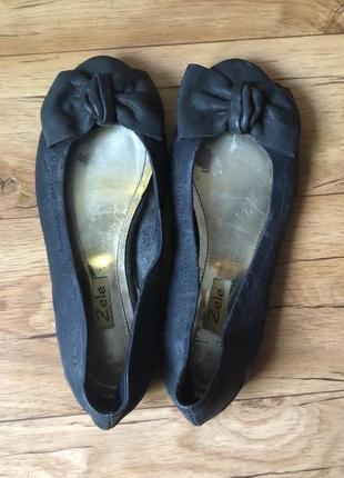Кожаные балетки