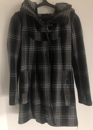 Шерстяное пальто в клеток vero moda