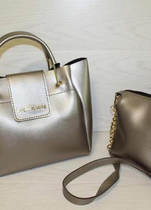 Набор/комплект из двух сумок, вместительная сумка и клатч