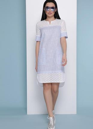 Льняное платье легкое летнее м-л-хл