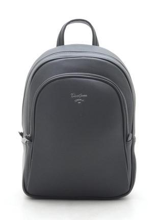 Новый женский городской чёрный рюкзак david jones