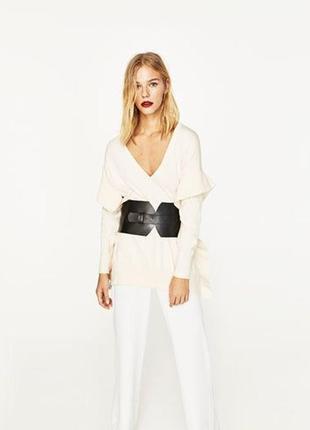 Zara джемпер , белый свитер, m-l