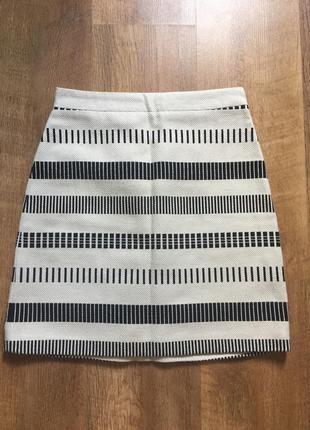 Красивая юбка в полоску zara размер xs,s