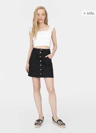 Джинсовая юбка от stradivarius