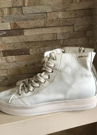 Классные кожаные кросовки кеды geox