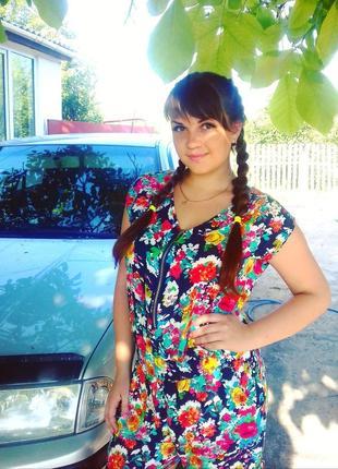 Летний сарафан шортами комбинезон с открытыми плечами цветочный принт