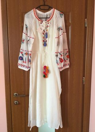 Платье вишиванка zara новое с етикеткой
