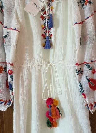 Платье вишиванка zara новое с етикеткой2 фото